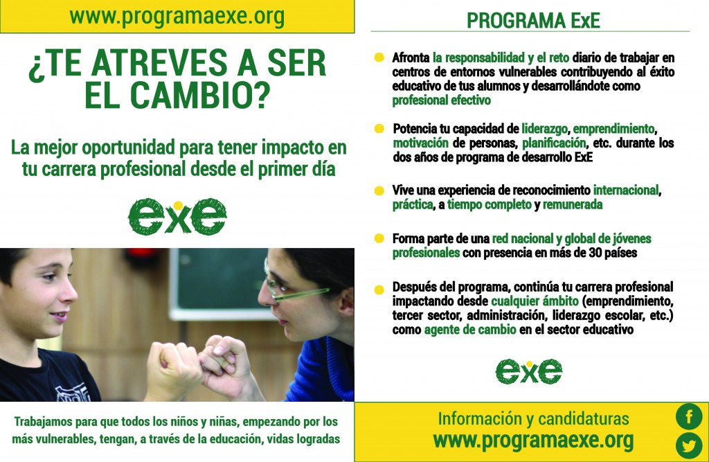 Programa ExE flyer